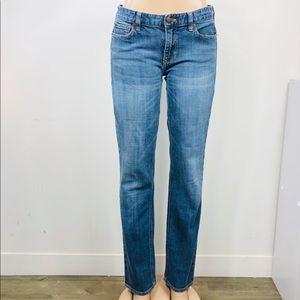 J. Crew 30R Matchstick Jeans Blue Straight Leg
